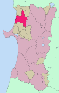 Location in Akita